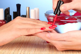 Gentle care of nails in a beauty salon - 48235330