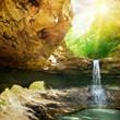 waterfall in the mountain