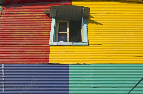 Detail of builfing, La Boca