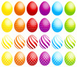 24 Easter Eggs Dots/Stripes/Check