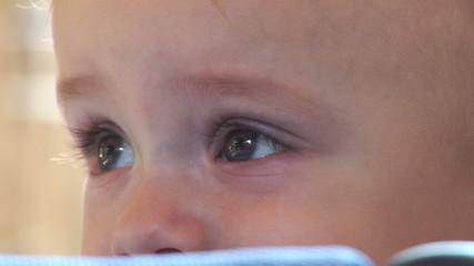 Baby Boy Big Eyes - Looking Around.