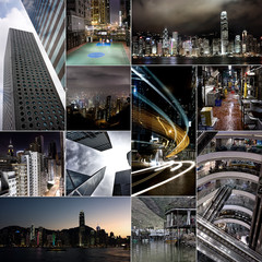 Collage der Stadt Hong Kong