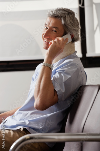 Happy Man On Phone Call