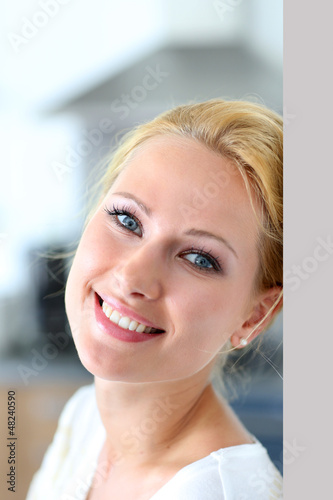 Attractive woman smiling at camera
