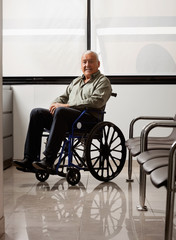 Senior Man On Wheelchair