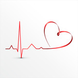 Heart beats cardiogram icon