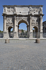 Constantin gate in Rome, Italy