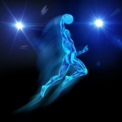 Baskettball Dunking UV-Licht 3D