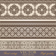 Vintage Border design elements collection. Detailed Vector