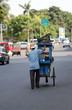 Marchand ambulant en asie du sud est