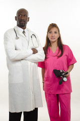 Multiracial medical team