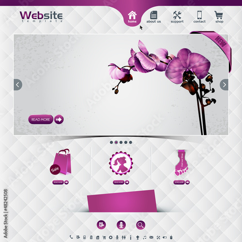 website template for flower shop and web shop