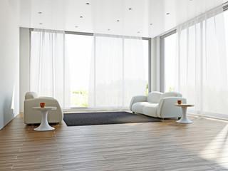 Livingroom with sofas and a carpet