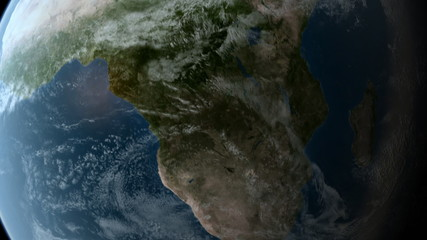 Orbiting over Africa