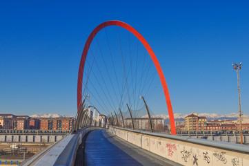 Pedestrian bridge Turin