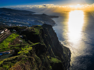 sunrise from the cliff tops Camara de Lobas, Madeira