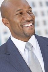 Happy African American Businessman