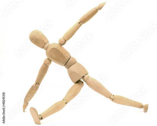 Wooden dummy stretching