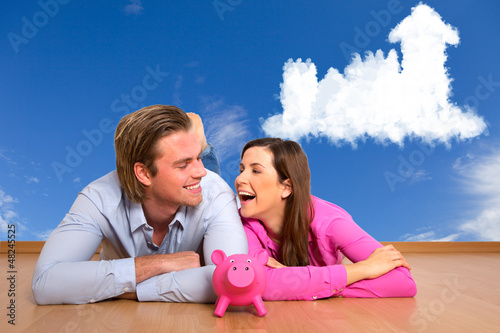 traumhaus und sparschwein