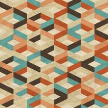 Powtarzalne retro geometryczny wzór.