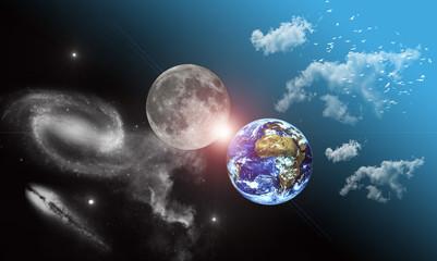 Lune et Terre
