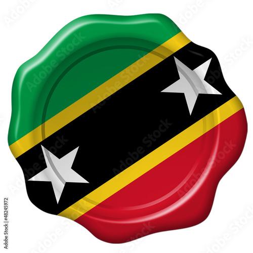 Wachssiegel St. Kitts und Nevis