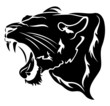 roaring big cat vector illustration