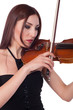 Beautiful girl playing violin