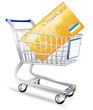 Einkaufswagen mit Kreditkarte