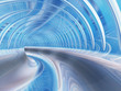Conceptual abstract perspective render futuristic curve tunnel