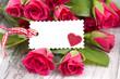 Rosen mit Zettel