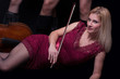 Blond woman and cello (cellist)