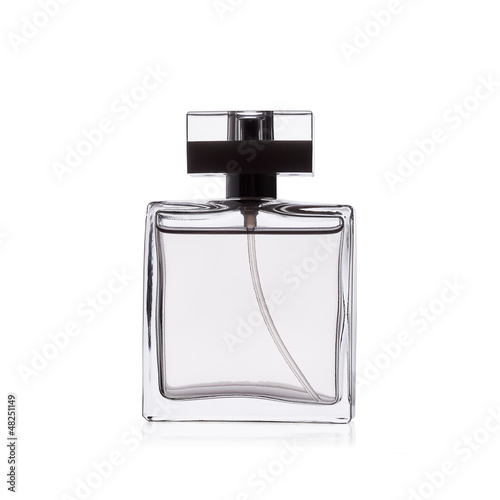 Perfume on white background