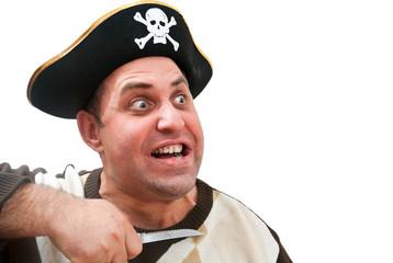 Портрет мужчины в пиратской шапке