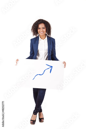 Young African woman illustrating growth