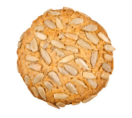 cookie with seeds isolated