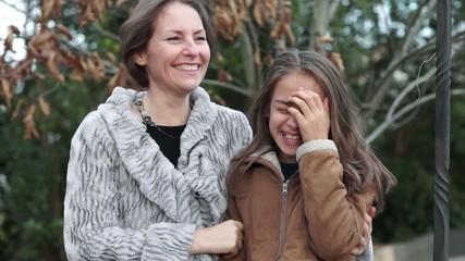 mère et fille - plaisanter