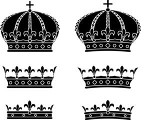 Set of crowns. stencils