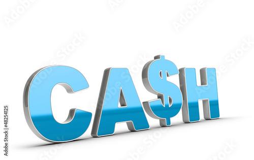 Cash Word and Dollar Symbol