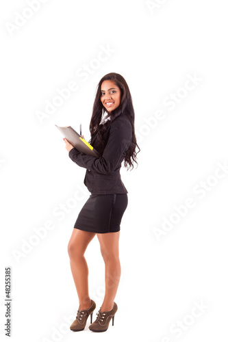 Beautiful woman scheduling an appointment