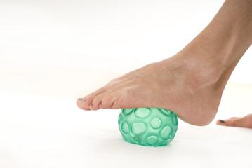 Fuss auf Ball, Physiotherapie