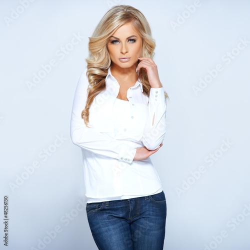 Glamorous beautiful blonde