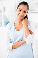 Close up portrait beautiful Indian woman smiling