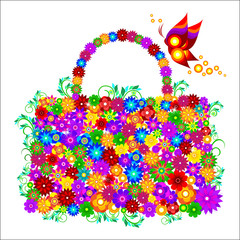 Women bag of bright colors