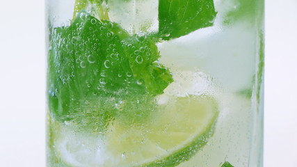 Mojito cocktail closeup