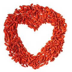Circle. Goji berries. Heart