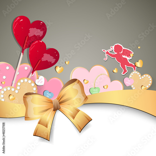 Vector Illustration of a Valentine Background