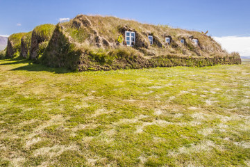 Glaumber old traditional Icelandic farm.