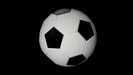 Computer generated soccer ball with alpha / loopable