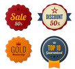 Vintage Labels set. Badge icons. Retro logo stickers